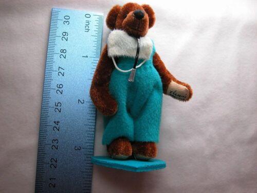 "World of Miniature Bear 3.5/"" Plush Bear Doctor #768 Collectible Miniature Bear"