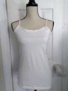 New Skinny Strap Cami White Size Xxl Xl L M S No