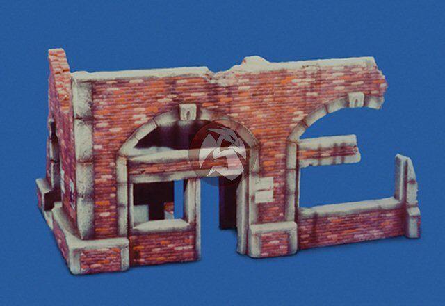Royal modell 1 35 British Command Center Ruin avsnitt WWII [Plaster Diorama] 005