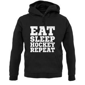 Sport Team Grass Eat Sleep Hockey Repeat Unisex Hoodie Field Gift