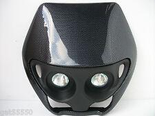 Universal Carbon Fibre Streetfighter Custom Motorcycle Headlight Gsxr Zxr Cbf