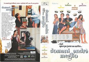 DOMANI ANDRA' MEGLIO (2000) vhs ex noleggio - Italia - DOMANI ANDRA' MEGLIO (2000) vhs ex noleggio - Italia