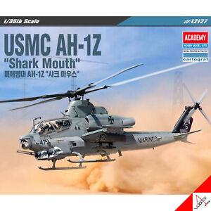 Academy-1-35-Scale-USMC-AH-1Z-Shark-Mouth-Hobby-Plastic-model-kit-12127