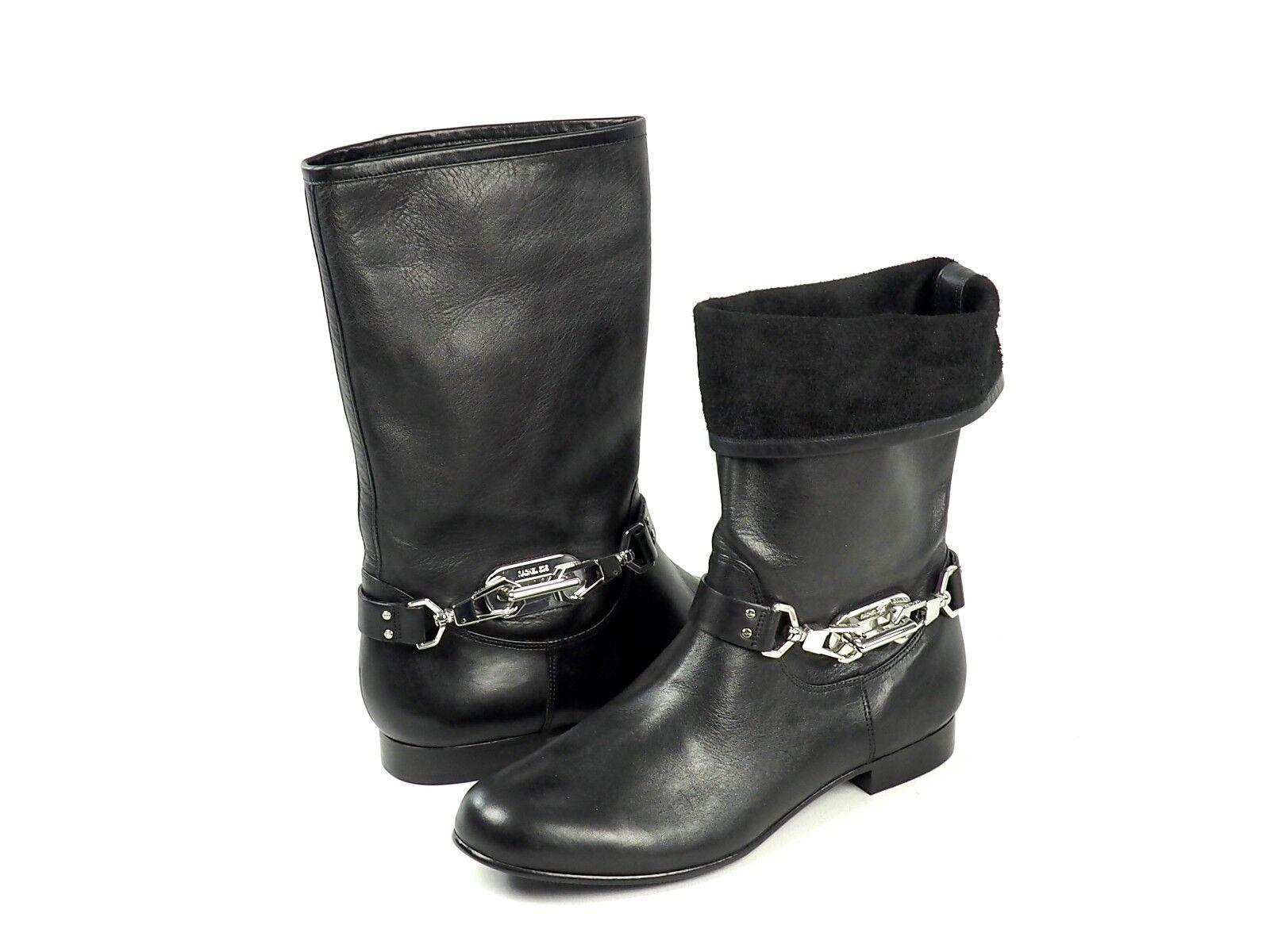 RACHEL ZOE  STYLISCHE STIEFELETTEN Stiefel  Leder Schwarz  GR. 38,5 NEU ( )    | Räumungsverkauf