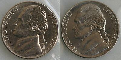 2007 P/&D Set Jefferson 5 cent Uncirculated