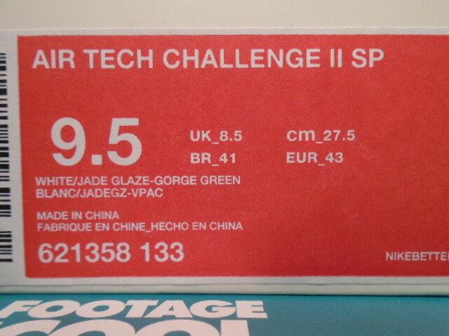best loved b5dd9 9a443 ... Nike Air Tech Challenge II II II 2 SP WIMBLEDON WHITE JADE GLAZE GORGE  GREEN GOLD