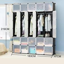 15 scatole a incastro Cube storage Guardaroba Vestiti Organizer 6 livelli 5 colonne