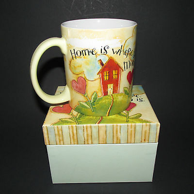 Lang Home Is Where The Mom Is Cup Mug 2005 Coffee Tea Hot Chocolate New In Box