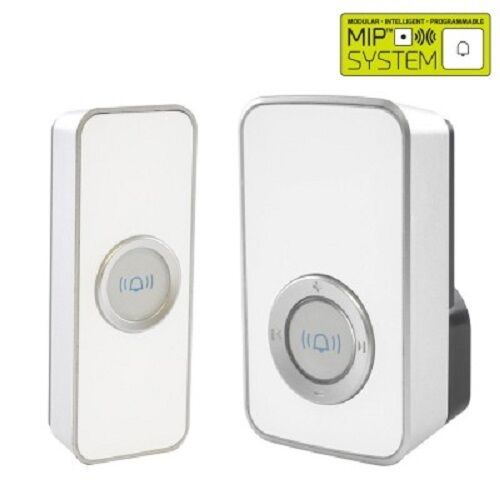 Lloytron B7505WH Wireless Cordless Door Bell Plug-In Chime 150m *32 Melody*White