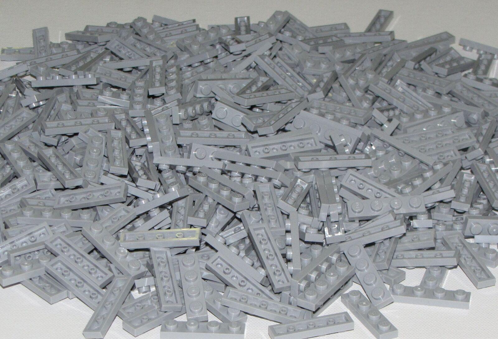 Lego Bulk Lot of 500 New Light Bluish grau Plates 1 x 4 Dot Pieces Parts