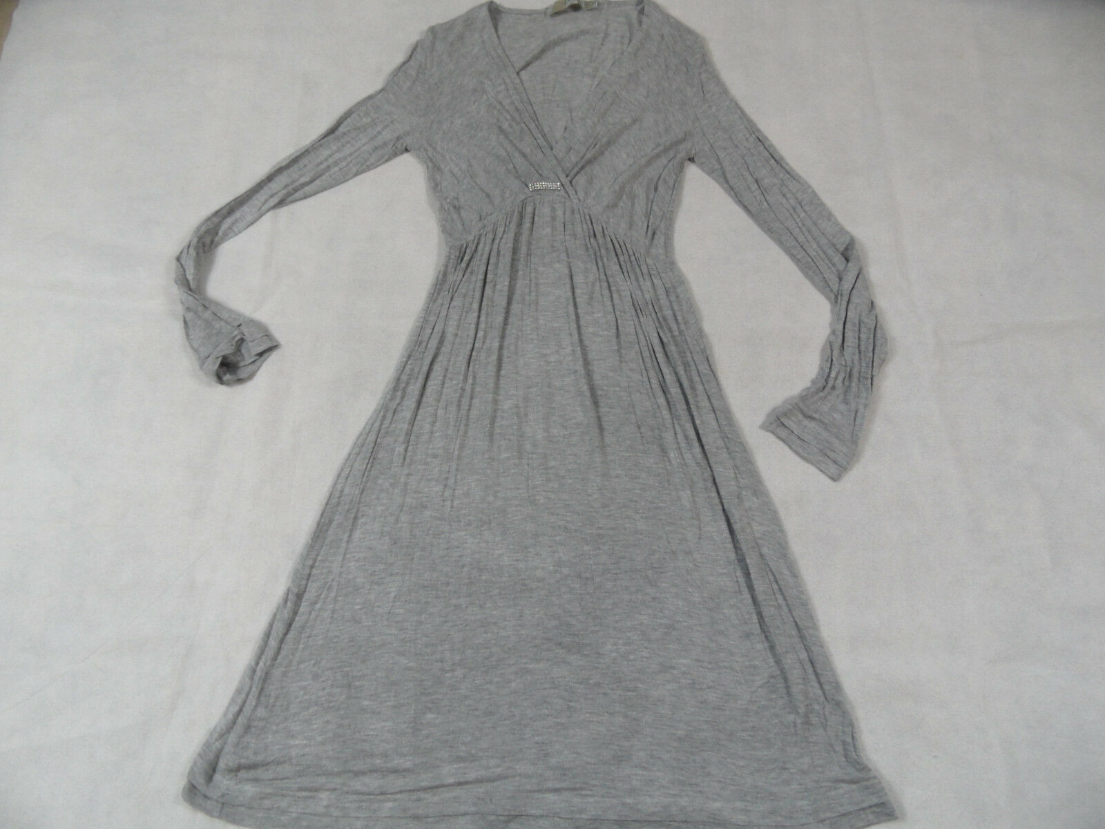 BOTTEGA leichtes Strickkleid grau Gr. L TOP KoS1218