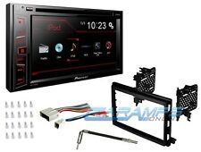 "PIONEER DOUBLE 2 DIN 6.2"" TOUCHSCREEN CAR STEREO WITH COMPLETE INSTALL DASH KIT"