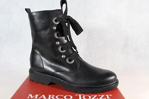 Femmes Nouveau Bottines Avec Lacets 25276 Tozzi Bottes Marco Noir 48xqwvZfnE