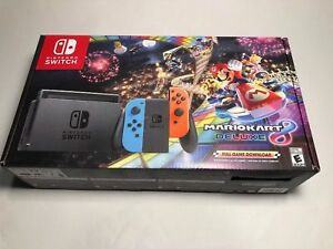 Details About Brand New Nintendo Switch 32gb Super Mario Kart 8 Deluxe Bundle