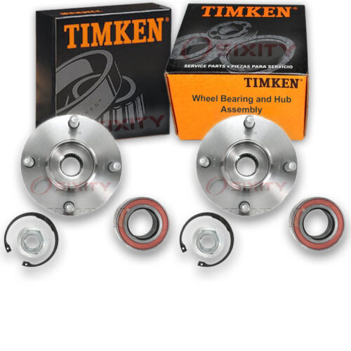 Timken Front Wheel Bearing /& Hub Assembly for 2000-2011 Ford Focus Pair Left jt