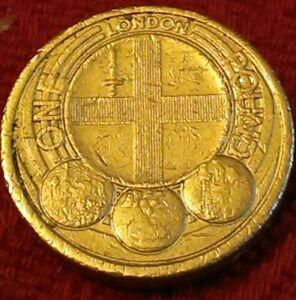 2010-LONDON-city-official-badge-capital-cities-of-the-UK-1-ONE-POUND-COIN