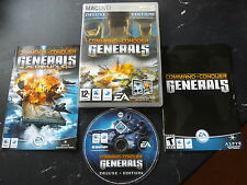 C & C COMMAND & CONQUER GENERALS DELUXE APPLE MAC/DVD + ZERO HOUR ( UNIVERSAL )