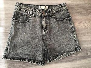 corti 10 stonewash lavaggio Womens acido Boohoo Sbiadito lavaggio stile Pantaloncini caldo Black vwA6f