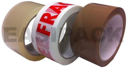 Lista de varios-Transparente marrón enmascaramiento frágil Gaffer gaffa Paquete embalaje Cintas