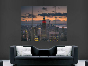 USA-MANHATTEN-NEW-YORK-EMPIRE-STATE-BUILDING-ART-WALL-PICTURE-POSTER-GIANT