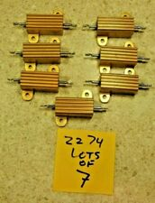 Lot Of 7 Ultronix Rer70fr100r 1 Ohm 1 20w Aluminum Power Resistor New