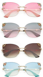 Fashion UV400 Oversized Sunglasses Bee Design High Quality 2 Colours Pouch DX10
