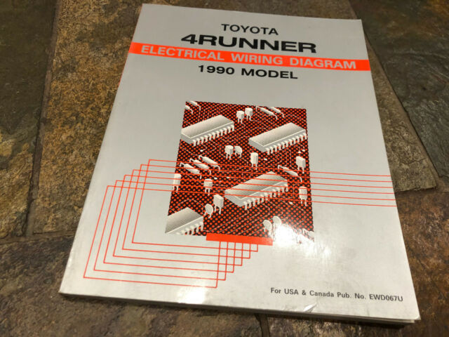 1990 Toyota 4runner Wiring Diagrams Electrical Service Manual