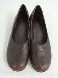 FRANCO-SARTO-WOMENS-BROWN-LEATHER-LOAFERS-SHOES-SIZE-7-M