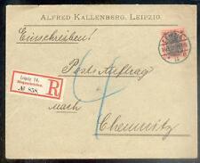 DR 1900 59 R-BRIEF POSTAUFTRAG LEIPZIG 100€(B0349