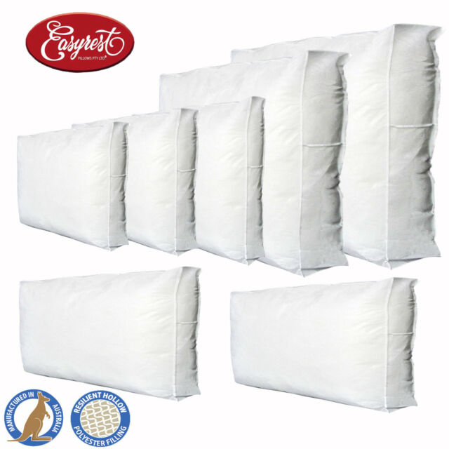 EASYREST Australian Made Gusseted Cushion Inserts Premium Polyester Filled