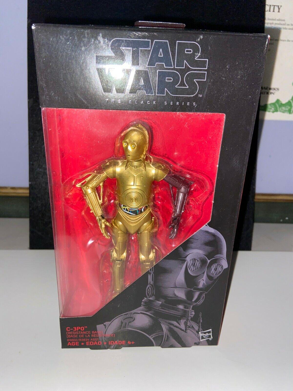 "C-3PO Resistance Base 6/"" The Black Series STAR WARS #29 Hasbro NEW MIB"