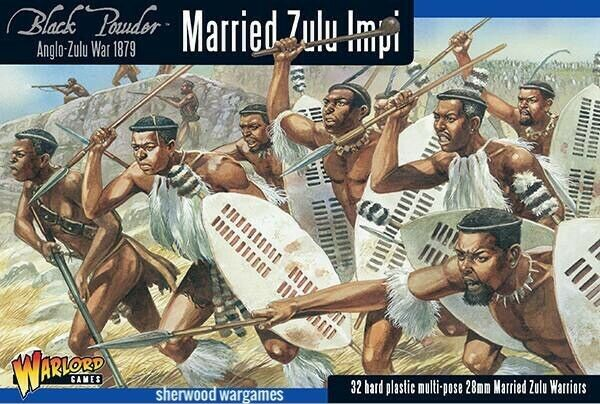 28mm Warlord Games Married Zulu Impi, Zulu War, Black Powder Colonial BNIB