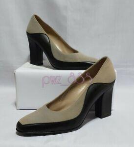 SALVATORE FERRAGAMO Gray Wool Pumps Heels Size 6 1/2 D