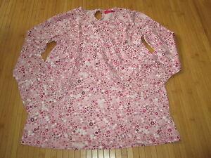 Tee-shirt-Rose-a-motif-fleurs-T10ans-marque-Tissaia-en-TBE