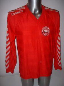 Image is loading Denmark-Hummel-Adult-Medium-Trikot-Shirt-Jersey-Football- eb74be8e0