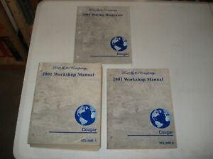 2001 MERCURY COUGAR SHOP MANUAL SET SERVICE BOOKS REPAIR ...