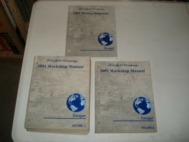2001 Mercury Cougar Shop Manual Set Service Books Repair