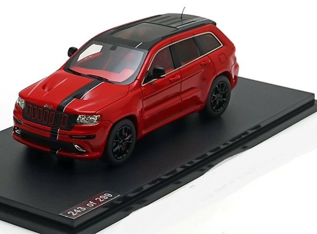 JEEP GRAND CHEROKEE SRT8 F1 EDITION 2012 RED GLM 108503 1 43 RESINE red red