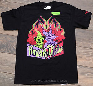 Disney-Parks-2014-24-Hour-Heroes-amp-Villains-Glow-in-the-Dark-T-Shirt-Size-XS-S