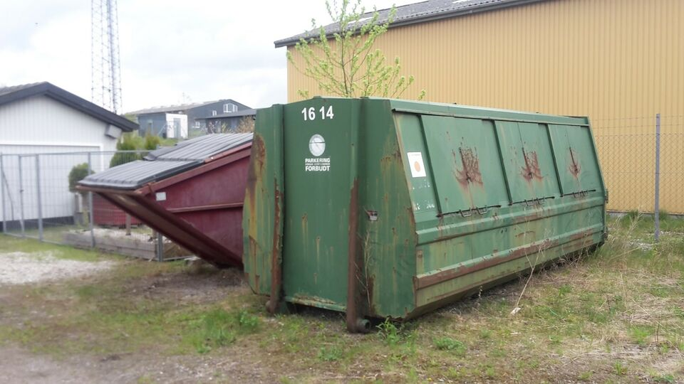 16cbm lukket affaldscontainer