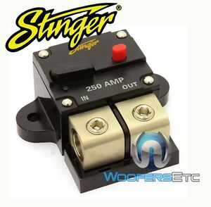 Stinger sgp90250 pro 250 amp 0 gauge 4 ga awg wire circuit for 150 amp service wire size