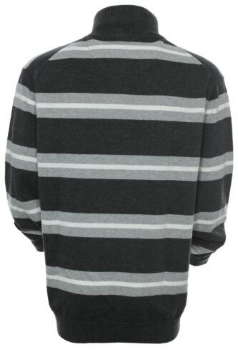 Kitaro Pullover Troyer Strick Pulli Knit Herren Langarm Baumwolle Zip