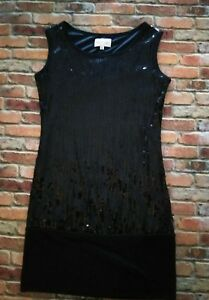 Tsumori-Chisato-Black-Sequin-Dress-Size-Medium-Made-In-Italy