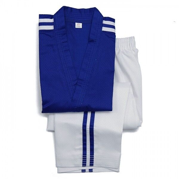 New Taekwondo Uniform Taekwondo Demo Team Uniform Special Fabric All sizes-blueeE