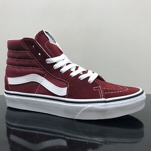 d727db259a Image is loading VANS-SK8-HI-SHOES-MADDER-BROWN-TRUE-WHITE-