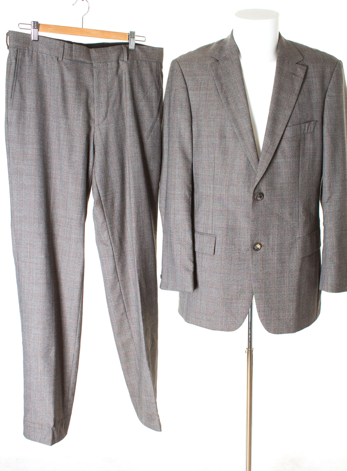 HUGO BOSS Anzug Wolle Super 120'S Herren Gr. 98 Mehrfarbig  | Quality First  | Sonderkauf  | Shop Düsseldorf