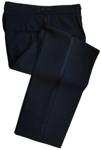 "Poly Wool Black Dress Trousers Waist 44/"" Inside Leg 34/"""