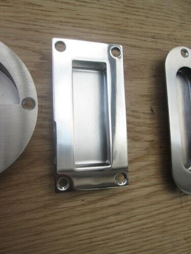 STAINLESS STEEL RECESSED//FLUSH INSET DOOR HANDLE SLIDING HANDLE