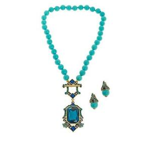 Heidi-Daus-034-Deco-Edition-034-Beaded-Toggle-Necklace-and-Earring-Set