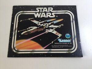 De-coleccion-Guerra-de-las-galaxias-FOLLETO-Kenner-Juguete-1978-Mini-catalogo-X-Wing-Cubierta